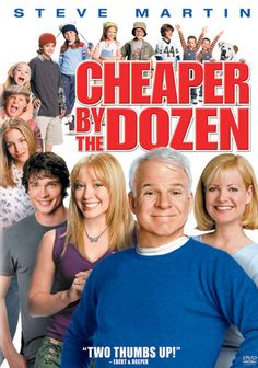 Cheaper by the Dozen Starring: Steve Martin, Bonnie Hunt, Hilary Duff and Alyson Stoner Funny Movies, Comedy Movies, Old Movies, Great Movies, Girly Movies, Bonnie Hunt, See Movie, Movie Tv, Movies Showing