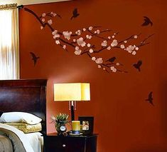 LOVE THIS!!!   bedroom wall stencil ideas | bedroom wall decor created with stenciking