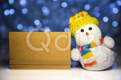 Qdiz Stock Photos | Christmas snowman toy and greeting blank card,  #background #blank #blur #blurred #brown #card #celebration #Christmas #clear #closeup #craft #decoration #doll #empty #eve #figure #fun #funny #greeting #hat #holiday #lights #little #Merry #new #paper #scarf #small #snowman #toy #traditional #white #xmas #year #yellow