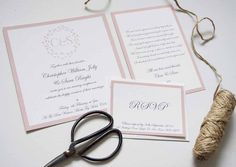The romance that comes from this stationery set is so apparent. We love the pale pink colour and our favourite part of the whole design is the initials of the couple who are getting married are printed in a gorgeous font and circled by a leafy vine at the head of the invitation. At a first glance you already know this invitation is for something special before you even get to reading it and that's what you want your guests to be thinking when they receive it.