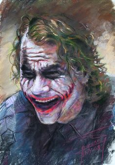 The Joker Heath Ledger  Sm Pastel
