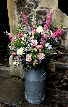 wedding flower arrangements for outside church - Google Search