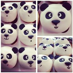 68 Ideas Cupcakes Anniversaire Panda For 2019 Panda Cupcakes, Animal Cupcakes, Easter Cupcakes, Cute Cupcakes, Baking Cupcakes, Cupcake Cookies, Panda Party, Panda Birthday Party, Ideas Party