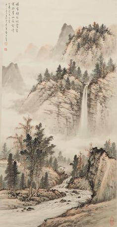 Huang Junbi Waterfall Landscape, 1957  FINE ASIAN WORKS OF ART 18 Dec 2017, 11:00 PST  SAN FRANCISCO