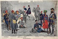 Turkish Military, Turkish Army, Ottoman Turks, Military Art, Military Uniforms, Crimean War, Arab Men, Ottoman Empire, New York Public Library