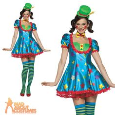 Adult Star Clown Costume Ladies Circus Carnival Fancy Dress Outfit New  sc 1 st  Pinterest & Moppie The Clown - Adult Costume from Buycostumes.com | OMG ...