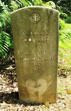 Burgess Conley, son of Jonas Conley. 1923-1986 buried in Scruggs Cemetery.