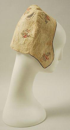 Cap 18th century, French, cotton