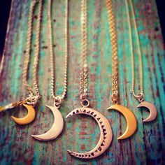 moon necklaces ∞