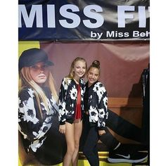 Brynn & Kenzie at the Miss Behave Girls booth at Dancer Palooza yesterday