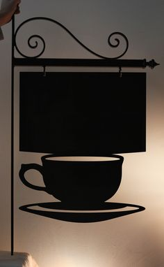 shop sign for a coffee company