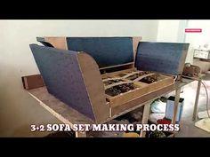 New sofa set upholstery tutorial best sofa making video by zafar khan - YouTube