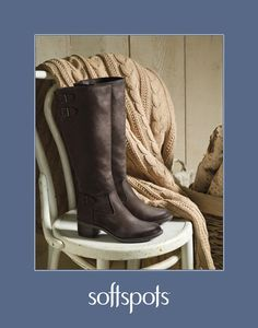 Step out with PillowTop™ comfort and classic style in Softspots Carter Tall Boots.