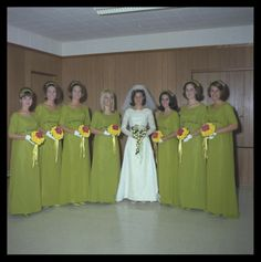 Ugly bridesmaid dresses in the 60 39 s and 70 39 s bright for Vintage wedding dresses austin