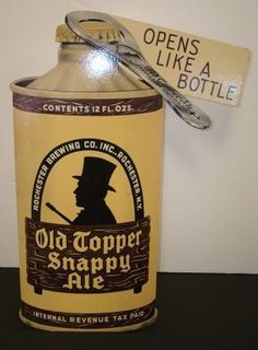 icollect247.com Online Vintage Antiques and Collectables - Old Topper Ale Die Cut Cardboard Easel Back