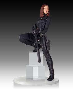 18-Inch Black Widow Statue