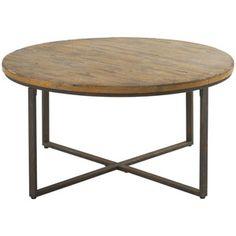 Table basse en bois et métal finition antique Christina Hanjel