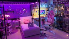 Neon Bedroom, Room Design Bedroom, Room Ideas Bedroom, Otaku Room, Gaming Room Setup, Kids Bedroom Sets, Kawaii Room, Game Room Design, Cute Room Decor