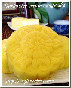 Durian Ice Cream Snowskin Mooncake (冰皮榴莲月饼) | GUAI SHU SHU