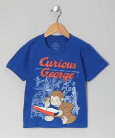 Love this Royal Blue Curious George Tee - Toddler by Curious George on #zulily! #zulilyfinds