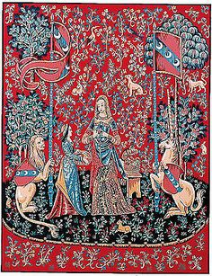 #Margot de #paris tapestry/needlepoint canvas – lady and the unicorn - #smell,  View more on the LINK: 	http://www.zeppy.io/product/gb/2/271457778712/