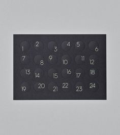 You are never to old for an advent calendar! 9 And 10, Typography, Creative, Gold, Calendar, Design, Paper, Wrapping, Advent Season