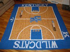 Basketball quilt.