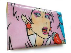 Jem and the Holograms Purse - Recycled Vintage Book Page in PVC - Retro Cartoon, Coin Purse, Womens Wallet Jem And The Holograms, Comic Book Pages, Fandom Fashion, Geek Fashion, Coin Wallet, A Comics, Wallets For Women, Funny Gifts, The Book