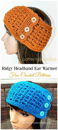 Trending Women Ear Warmer Free Crochet Patterns - Crochet Jewelry and Small Projects - Crochet Jewelry Patterns, Crochet Headband Pattern, Crochet Beanie, Crochet Headbands, Crochet Clothes, Crochet Woman, Crochet Yarn, Free Crochet, Crocheted Hats
