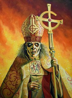 Title: PAPA Emeritus Zero  Artist: Jeff Parson Ghost Papa, Ghost Bc, Doom Metal Bands, Band Ghost, Heavy Metal Rock, Ghost Pictures, Band Posters, Satan, Rock And Roll