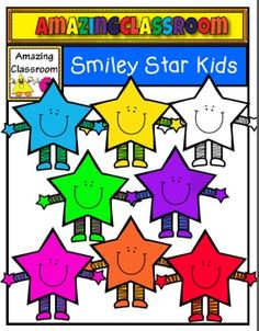 This cute clip art set includes 8 smiley star kids images. 7 in color and 1 in digital stamp format.  These are high quality png images (meaning no white background around them).  They will re-size nicely and still remain crisp.  As always, if you can find these cuties useful, your feedback is greatly appreciated.