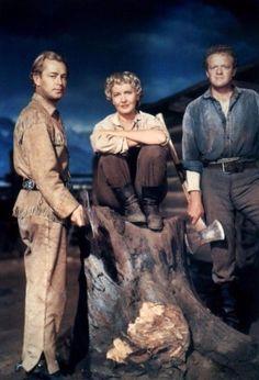 Alan Ladd, Jean Arthur and Van Heflin in Shane (1953)