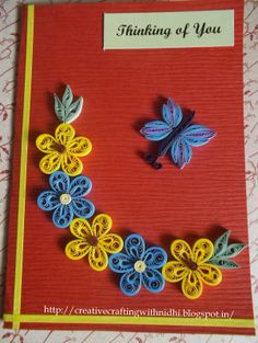 Paper Quilling Patterns   ... Art and Craft Work: New Paper Quilling Designs of Greeting Cards