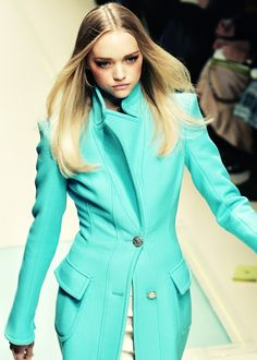 all you need is a bright saturated mint jacket - love this color