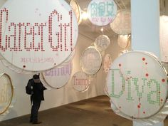 Lin Tianmiao  The Arts in NYC Fall 2012 » Badges, (B)ad (A)ss (D)isplay of (G)ender (E)mblematized (S)tuff