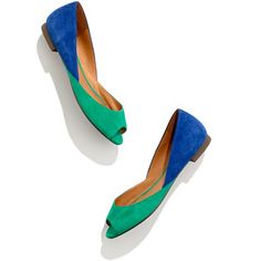 The Peep-Toe Sidewalk Skimmer in Suede
