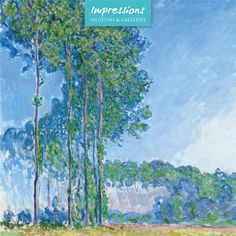 Poplars by Claude Monet, from the Classics range by Museums & Galleries