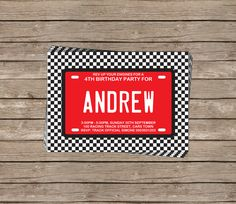 Race Car Invitation & Printable Birthday Party Collection