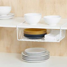 Howards Storage World | Undershelf Mounted Basket in White