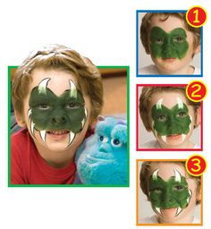 Snazaroo™ Face Painting: Little Monster #halloween #facepainting