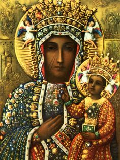 VIRGEN NEGRA DE CZESTOCHOWA, Patrona de Polonia. Verge, Divine Mother, Madonna And Child, Blessed Virgin Mary, Lutheran, Sacred Heart, Mother And Child, Religious Art, Our Lady