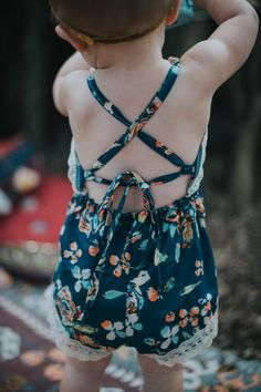 Navy Fleur Bohemian Jumpsuit by hipsterlittles