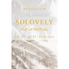 | S A V E  T H E  D A T E S | Estaremos en la edición veraniega de @solovelypopup  en un entorno muy especial al aire libre en #benicassim . . . . #beach #sun #summer #heroinejewels #jewelry #joyasdeplata #joyas #joyeria #diseño #joyasdiseño #cool #trendy #fresh