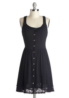Welcome the Weekend Dress. Celebrate the end of a rewarding workweek by meeting up with the girls for dinner in this black shirtdress! #black #modcloth