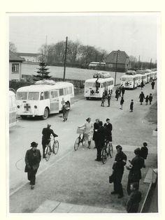 Svenske Røde Kors busser ankommer til Padborg d. 17. april 1945 med 423 jøder fra ghettobyen Theresienstadt i Tjekkiet under Bernadotte-aktionen  Tidsperiode og årstal Datering:17. April 1945 - See more at: http://samlinger.natmus.dk/FHM/17641#sthash.6yOPDTuv.dpuf