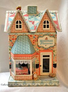 Paper mache quilt shop - Graphic 45 Secret Garden paper: