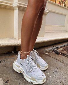 Buy Balenciaga Triple S Trainers White shoes online sneakers fashion shoes sport men woman style balenciaga TripleS White 608760074612051094 Moda Sneakers, Sneakers Mode, Sneakers Fashion, Fashion Shoes, Shoes Sneakers, Fashion Outfits, Nike Fashion, Tumblr Sneakers, Fashion Belts