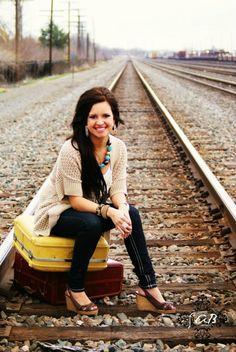 Seniors - suitcases on tracks