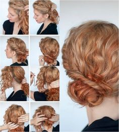 Hair Styles 2018 40 hairstyles for Naturlocken to make your own with instructions Curly Hair Styles, Curly Hair Cuts, Long Curly Hair, Natural Hair Styles, Styling Mousse, Chignon Updo, Curl Styles, Curly Girl Method, Fancy Hairstyles
