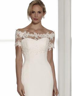 Camilla shrugSassi Holford Bridal Collections For more Santa Barbara wedding gowns and dresses visit: Santa Barbara Wedding Gowns @ www.WeddingTrendsandtraditions.com